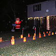 Santa with Japanese Lanterns