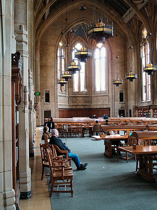 Main Reading Room, Main Library, Univ of Washington