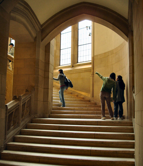 Interior Stairway, Main Library, University of Washington